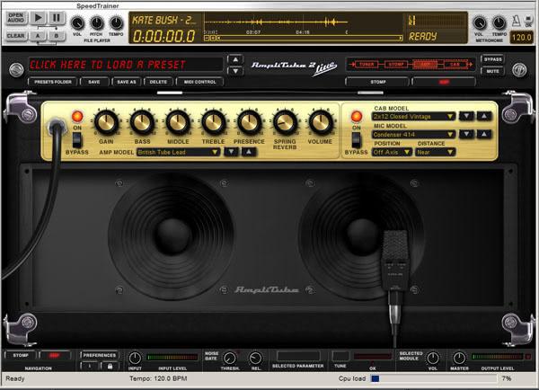 Ik multimedia Amplitube guitar amp simulator