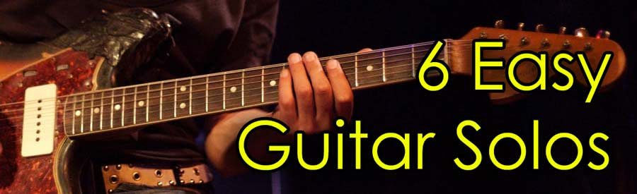 6 easy guitar solos for beginners