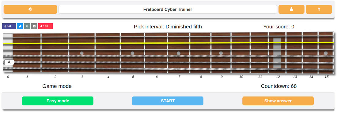 master guitar intervals with this tool