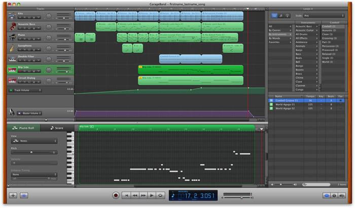 garageband recording software for mac