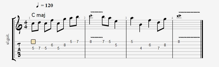 Ionian scale over major