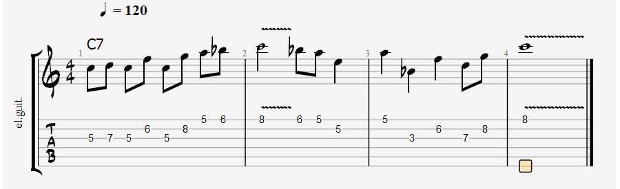 Mixolydian scale over dominant chord