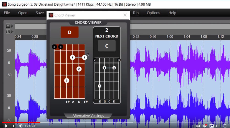 chord detection feature