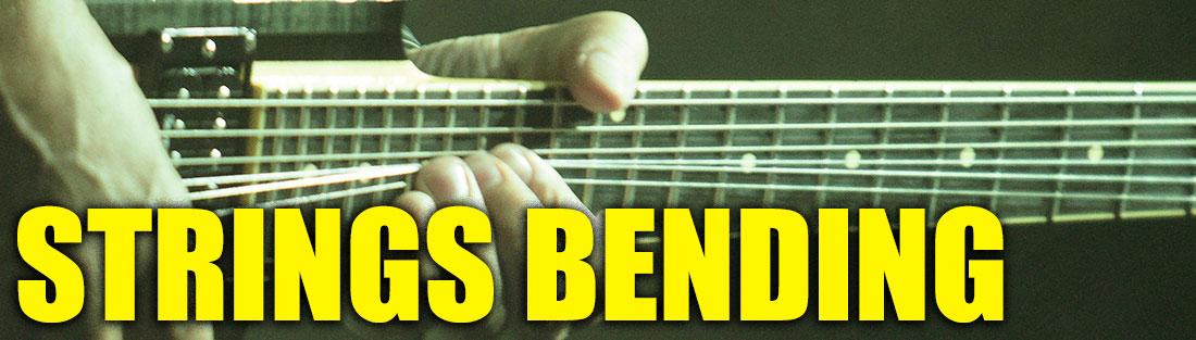 how to bend guitar strings tutorial
